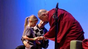 Dalai Lama and child