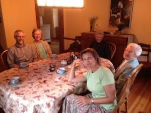 Harrop Family around the table.