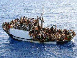 Refugees in boat