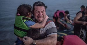 Syrian Dad and child