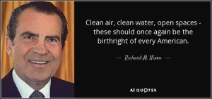 Richard Nixon on Clean air